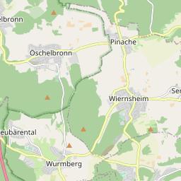 Pforzheim Karte.Postleitzahlengebiet 75175 Pforzheim